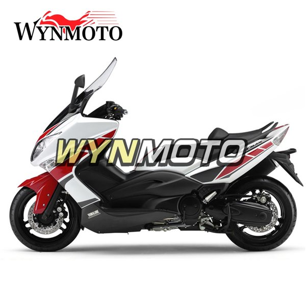 Motorcycle Fairings For Yamaha TMAX xp500 2008 2009 2010 2011 ABS Plastic Injection Covers motorbike cowlings Red White