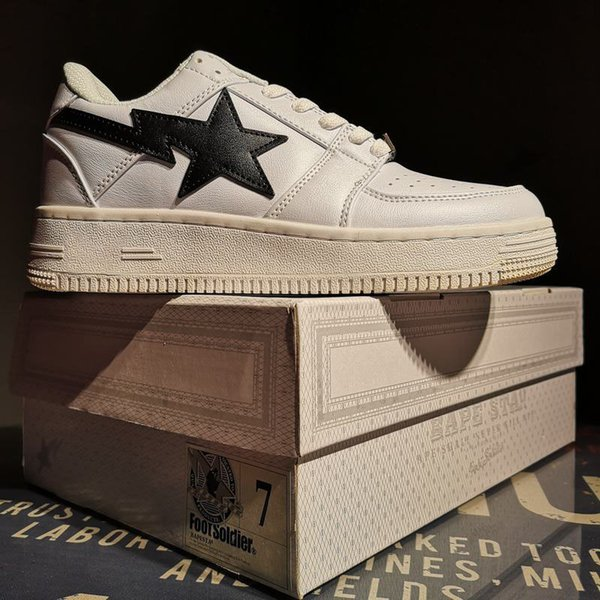 With BoxFootsoldier BAPESTA Shoes High Quality Mans Womans Casual Shoes  High Top Shoes Cheap Shoes For Men From Outtshoes, $52 8  DHgate Com