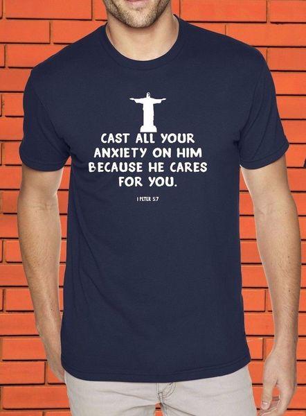 Cast Your Anxiety Christian Religious Lord Jesus Christ Spiritual Faith T shirt cattt windbreaker Pug tshirt