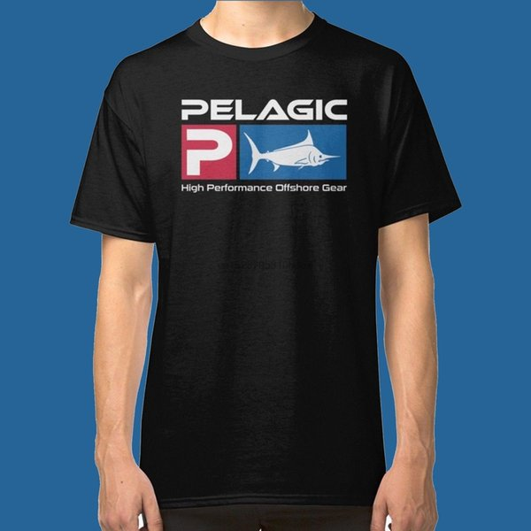 New Pelagic Fisher Offshore T Shirt Graphic Tee Black Color Size S M L Xl 2Xl 100% Cotton Tee Shirt Tops Wholesale Tee
