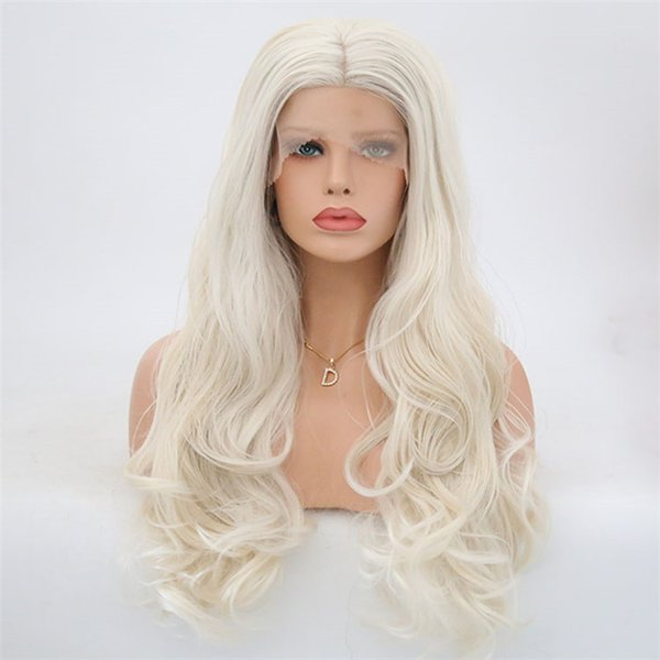 Front lace chemical fiber wig headband cross-border Europe and America for half-hand hook wig