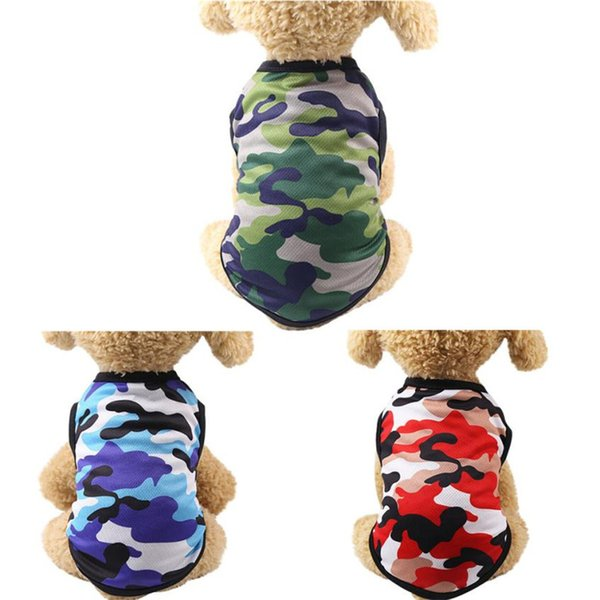 Cute Cartoon Dogs Clothes Winter Summer Dogs Vest Camouflage Dog Clothes For Small Medium Large Dog Chihuahua Superhero Pet Cat Coat XS~XXL