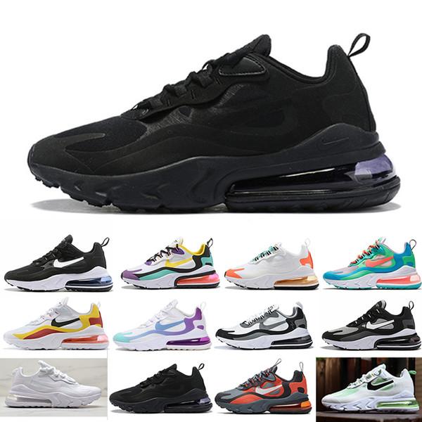 Nike Air Max 270 V2 2020 réagir hommes chaussures de course Blanchi Corail Crépuscule Violet Gris et Orange Mon Feels Bauhaus triple hommes noirs femmes Outdoor CC8-6 sneakers spor