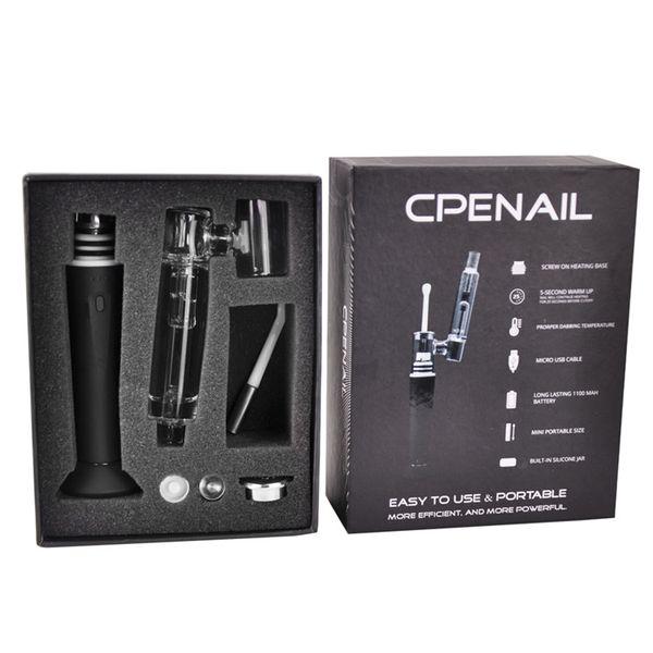 CPENAIL 1100mah Portable Wax Pen Dab Rig Nail Ceramic Quartz Electric H Nail GR2 Ti 3type coils e cigs Vaporizer Vapor Glass bongs