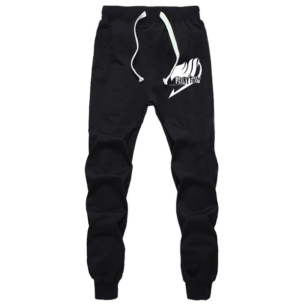 Print Pants Men Hip Hop Casual Unisex Trousers Fairy Tail Anime Cotton Polyester Harem Pants Funny Printing Male Joggers Fashion
