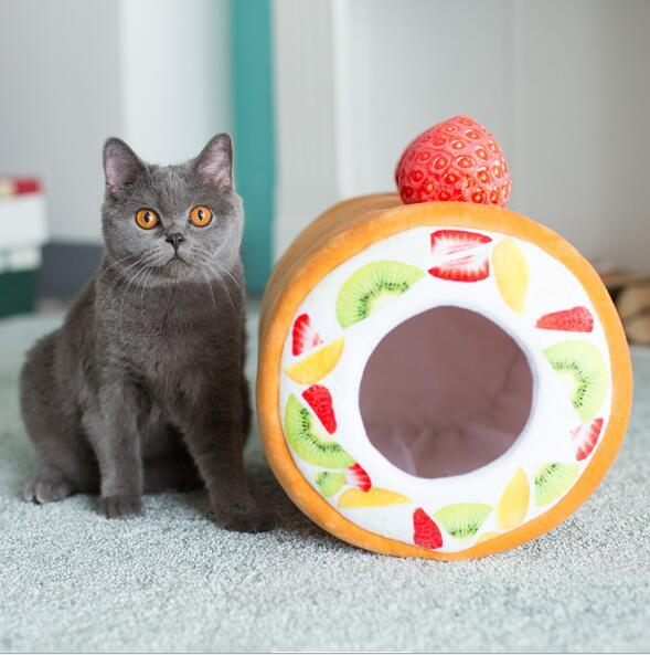 Kek Rulo Pet Kedi Kitty Yatak Ev Sıcak Yavru Mini Pet Köpek yatak Chihuahua Teddy Köpek Mat Kedi Uyku Tulumu Kennel
