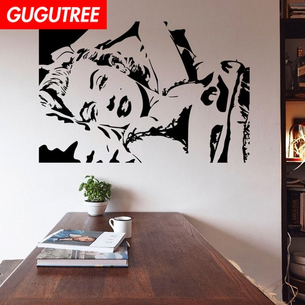 Decorate Home belle girl cartoon art wall sticker decoration Decals mural painting Removable Decor Wallpaper G-1649