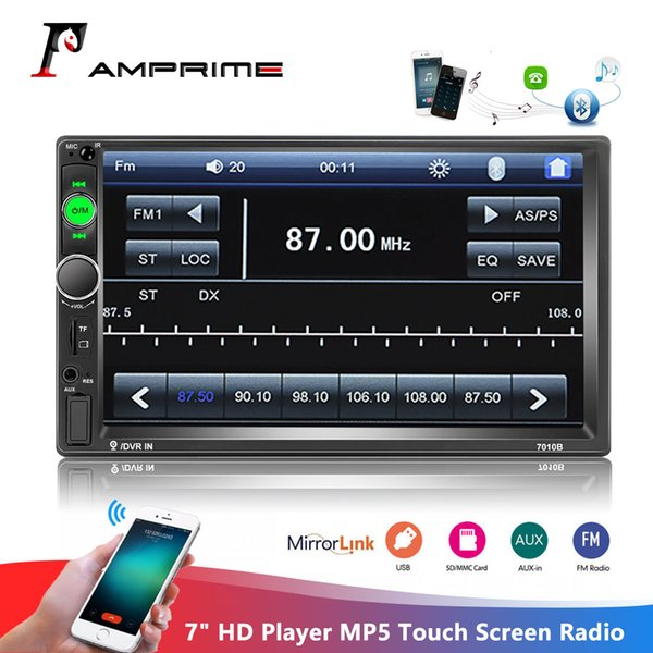 "best selling AMPrime 2din Car Radio 7"" HD Player MP5 Touch Screen Digital Display Bluetooth Multimedia Autoradio Mirror Link FM Media Stereo"