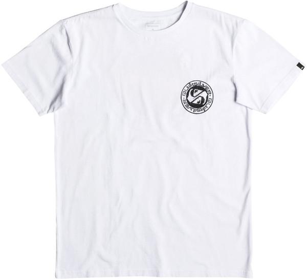 Quiksilver Balanced 69 Short Sleeve T-Shirt in White 2018 High quality Brand Men T shirt Casual Short sleeve