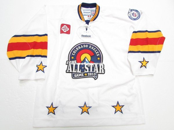 huge selection of 88197 4d84a Cheap Custom 2013 ECHL ALL STAR GAME COLORADO EAGLES PRO 6100 JERSEY Stitch  Add Any Number Any Name Mens Hockey Jersey XS 6XL UK 2019 From ...
