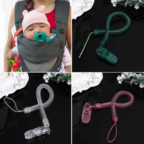 2018 NEW Baby Kids Boy Girl Chain Clip Holders Dummy Pacifier Soother Nipple Leash Strap Baby Care