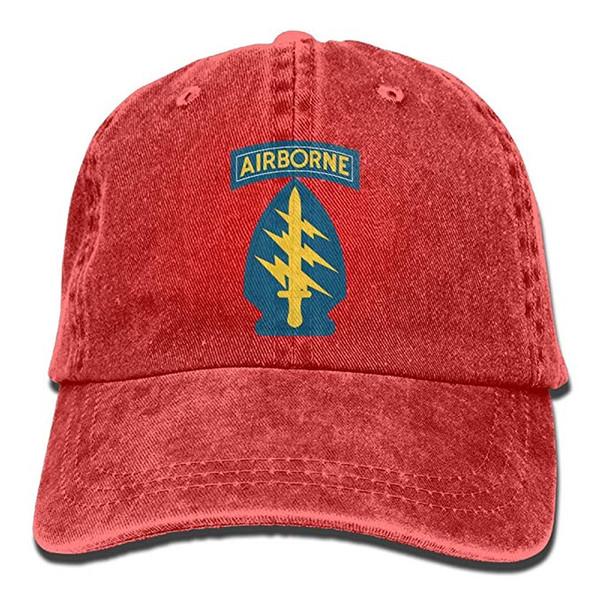 FM 2019 Nuevas gorras de béisbol personalizadas Fuerzas especiales del ejército de EE. UU. Impresión de tendencia de la bandera Sombrero de vaquero Gorra de béisbol de moda para hombres y mujeres Negro