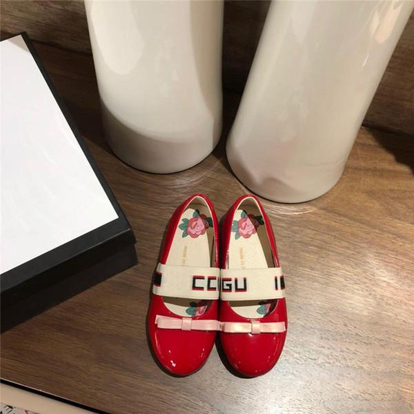 Designer Prinzessin Schuhe aus echtem Leder Mädchen Schuhe mit Band Trendy Kids Schuhe Flip auf Party Schule Kleid Ballett flache Mary Jane Schuhe