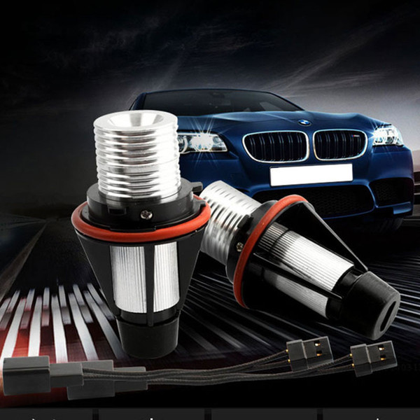 best selling 2pcs BMW Angel Eyes Light Bulbs LED Headlight Marker Halo Ring Bulb E39 E53 E60 E63 E64 E66 E87 525i 530i xi 545i