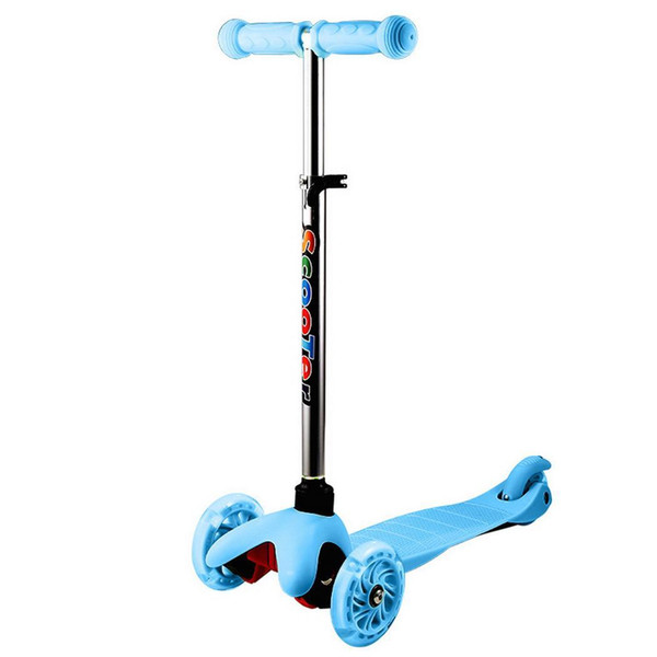 Height Light Scooter Kids Levels with 10 Adjustable Kick 5cm years 20kg LED Above old 3-Wheel inch Up 25 Wheels 04 4