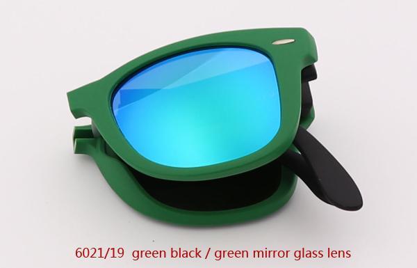 6021/19 عدسة مرآة خضراء سوداء / خضراء