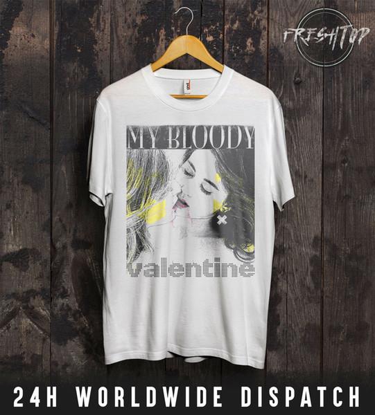My Bloody Valentine-T-Shirt Valentinstag Bilinda Butcher Lesbians Kissing LGBT