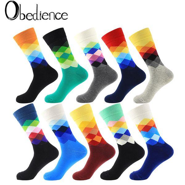 2019 moda primavera otoño invierno mujeres hermoso traje de calcetines de color sólido para rombos salvajes lindos calcetines de algodón buena calidad nuevo