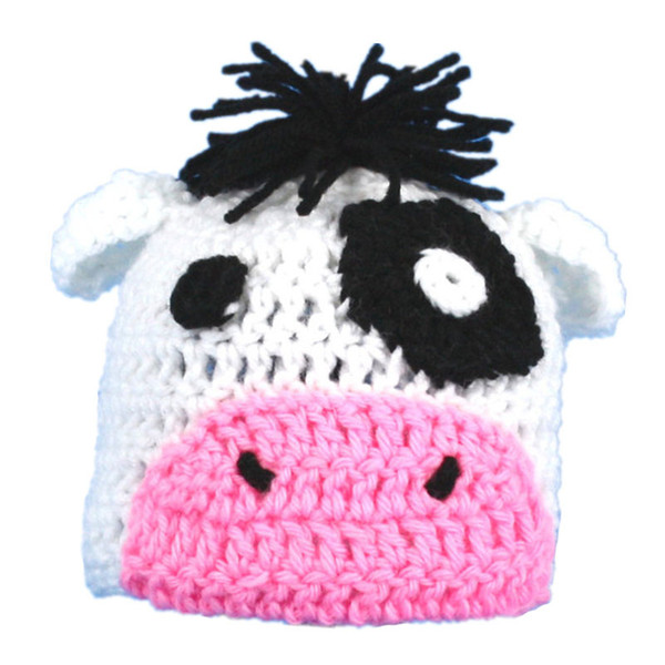 Crochet petit pompon grosses hat photo prop cadeau baby shower