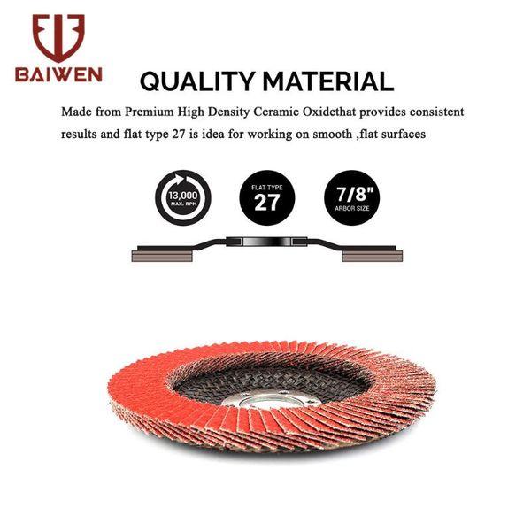 best selling 2 4 8Pcs Flap Disc 4.5'' Ceramic Corundum Grinding Wheels Grit 60 80 Sander Blades for Angle Grinder T27
