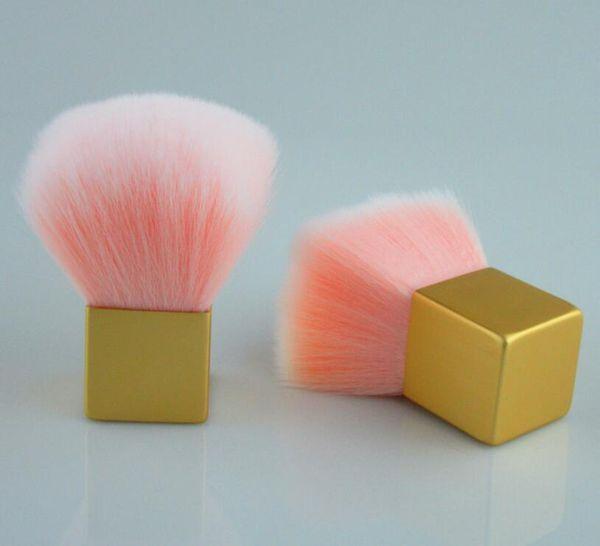 KIKO Pudra Fırçası Kısa Saplı Mantar Allık Tatlı Pembe Saç Makyaj Fırçalar Kadın Kozmetik PVC Kutu ile makyaj Fırça Araçları