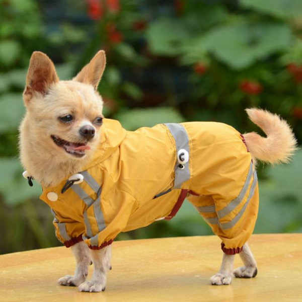 New Waterproof Dog Raincoat Reflective Dogs Rain Jacket Safety Rainwear Dog Jumpsuits Poncho Clothes For Small Medium Large Pet Dogs