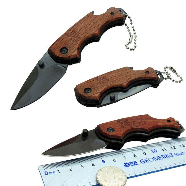 Couteau de camping pointu en 3Cr13, manche en palissandre avec décapsuleur pour couteau de survie en plein air et couteau de poche