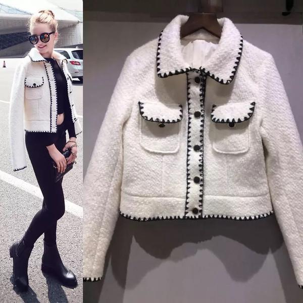 2019 Chaqueta De Compre Runway Tweed Blanca Winter Nuevo Designer 5fnRxZp