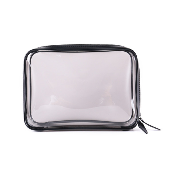 3pc Transparent Cosmetic Bag Clear Zipper Travel Make Up Case Women Makeup Beauty Organizer Toiletry Wash Bath Bag Storage Pouch