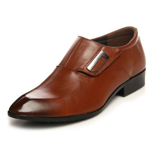 AECBUY Scarpe da uomo in vera pelle Scarpe da ufficio casual Scarpe da uomo in pelle Abito in pelle NZZXTA4