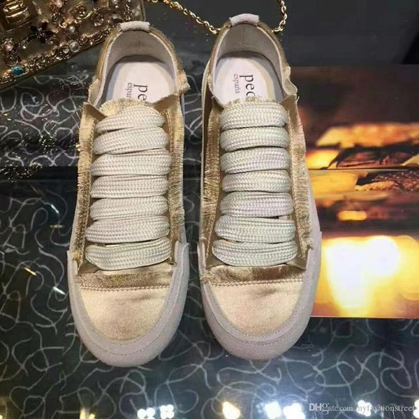 Perfect Official Quality Pedro Shoes Spain Fashion Handmade Satin Garcia Sneakers New Release Low-top Lace-up Comfortable Sneakers