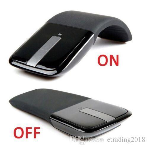 2,4 GHz Arc Touch drahtlose optische Mäusemäuse mit USB-Empfänger für PC Laptop Neu