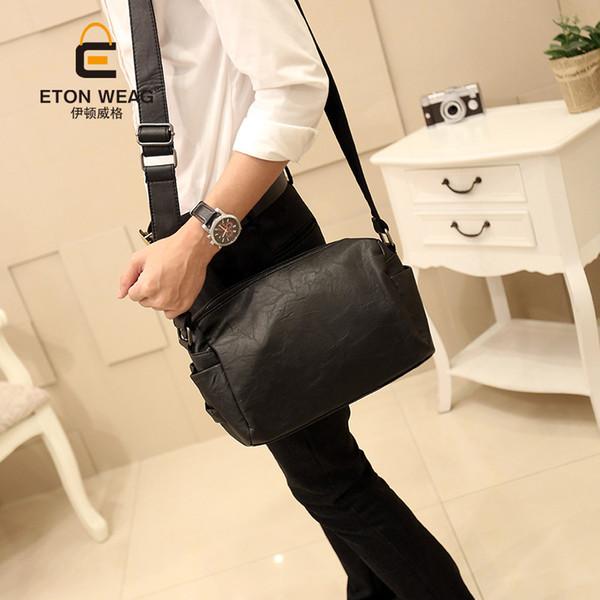 Nova bolsa de ombro dos homens saco ocasional coreano moda masculina diagonal