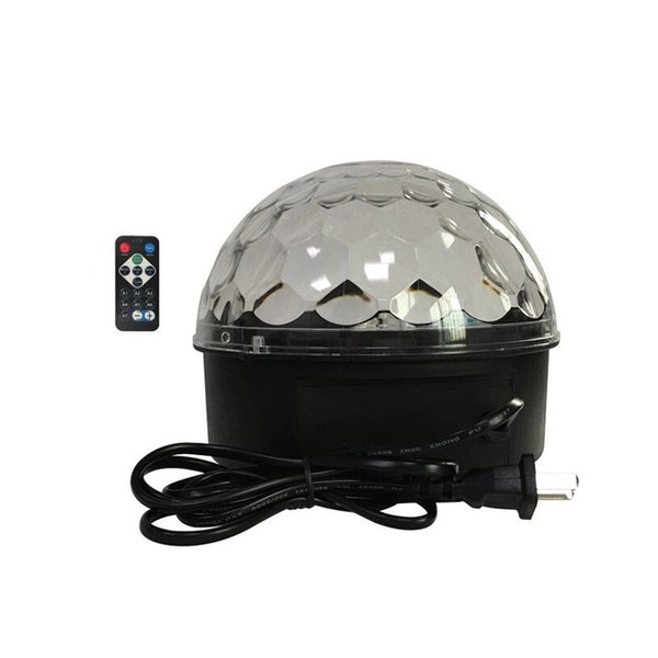 Household Sound Active LED Effects Remote Control Stage Lights Crystal Magic Ball Laser Effect KTV Bar Rotating Colorful Flash Lamp