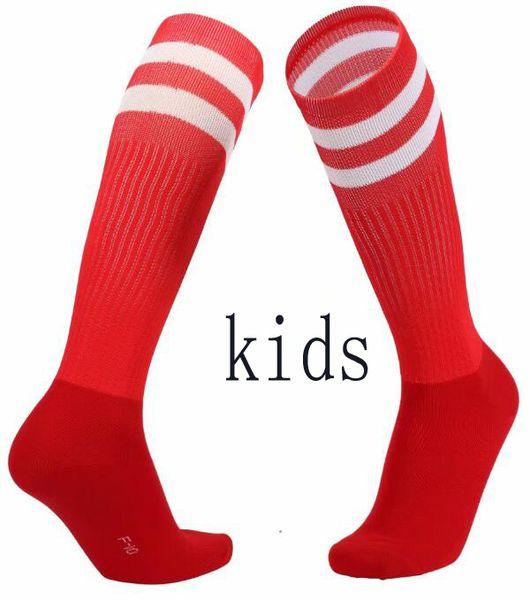 Crianças respirável Anti-Slip Socks Tubo de futebol Football Sports longas