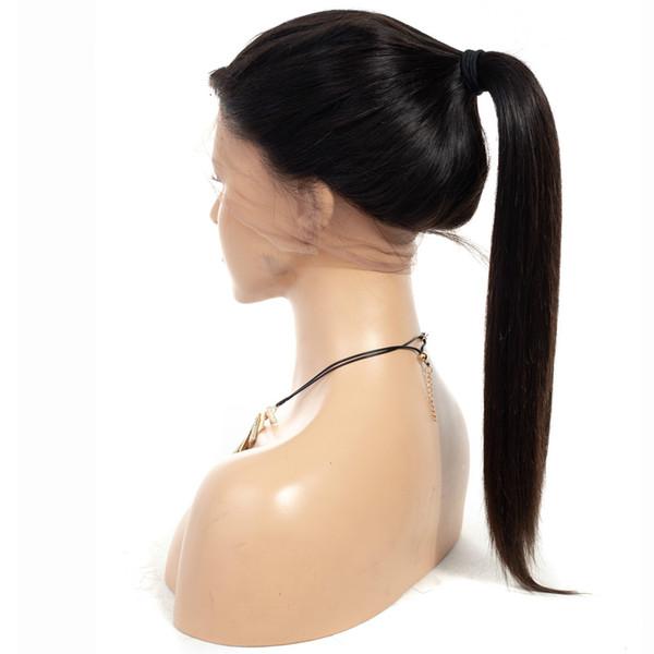 360 Dantel Frontal Peruk Bebek Saç Ile 150% Yoğunluk Düz Perulu Remy Doğal Peruk Ön Koparıp Dantel Ön İnsan Saç peruk
