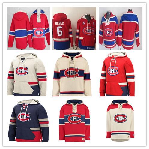 Customized Men's Montreal Canadiens Hoodie Shea Weber Carey Price Max Domi Brendan Gallagher Jonathan Drouin Richard Lafleur Red Sweatshirt