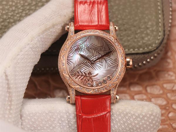 роскошь леди часы 36мм дизайнерские часы модные аксессуары водонепроницаемый противоударный леди Автоматическое механическое движение Алмазный часы