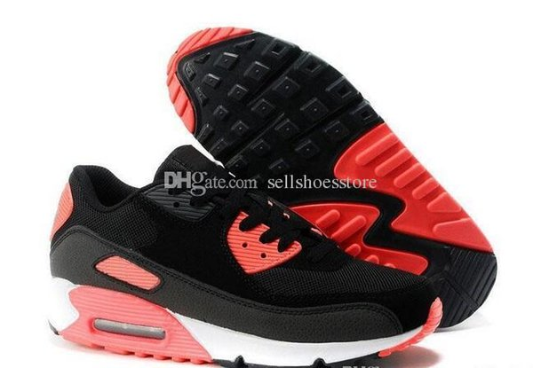 Clearance Qualityl Men Women Comfortable 90 Running Shoes Black Red White Sports Trainer Breathable Sports Shoes For Sale
