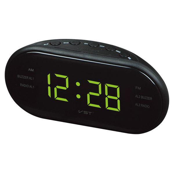AsyPets Nouvelle Mode Moderne AM / FM LED Radio Réveil Bureau Électronique Horloge Numérique Horloges De Table Snooze Fonction-25
