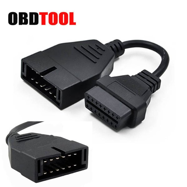 ObdTooL 12 PIN to 16 PIN OBD1 OBD2 Adapter for G-m Car Diagnostic Scanner Cable 12pin to 16pin Extension Connector JC10