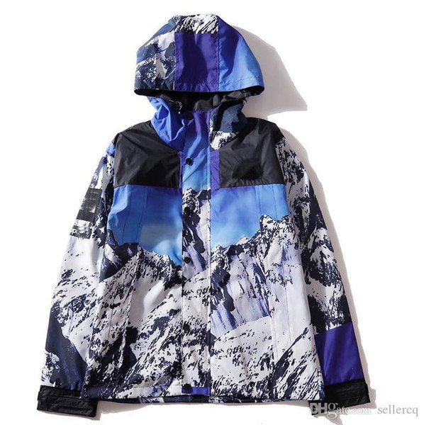 2019 Moda Chaquetas de diseñador para hombre más recientes Primavera y otoño Cremallera con capucha Chaqueta de montaña de nieve de lujo de alta calidad talla grande M-3xl