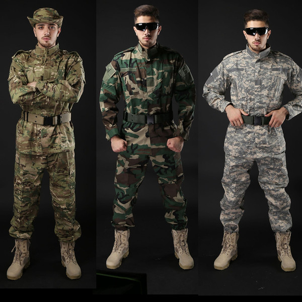 army tactical uniform shirt + pants camo camouflage acu fg combat uniform us army men's clothing suit hunting thumbnail