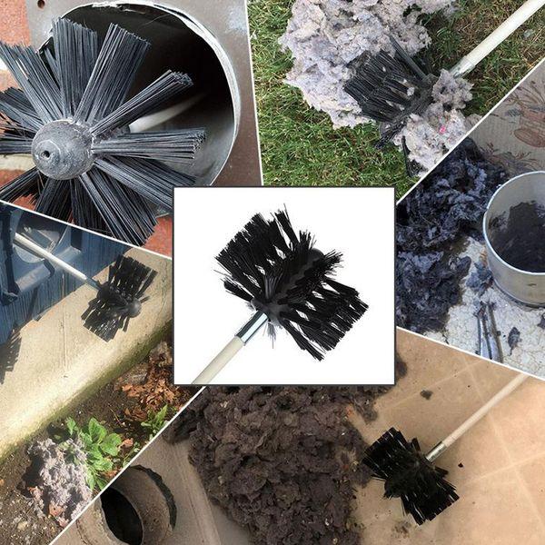 Дымоход труба Внутренняя стена щетка для очистки Bendable Electric Drill-Flexible Cleaning Kit M8617