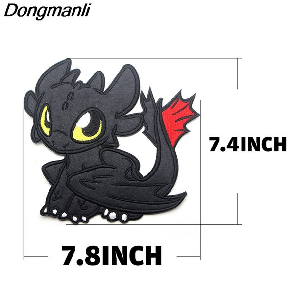 10pcs/set Dongmanli How to train your dragon Cool Embroidered badges Iron On Patch retro applique patches for clothes M2674