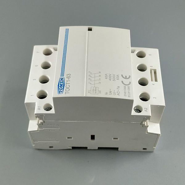 Contactors TOCT1 4P 63A 110V COIL 400V~ 50/60HZ Din rail Household ac Modular contactor 4NO or 2NO 2NC Contactors