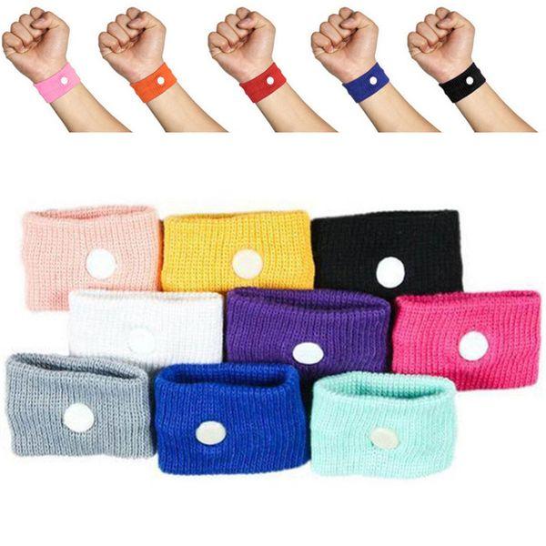 1Pc Cotton Adjustable Travel Reusable Wrist Band Anti Nausea cute Wristbands Sickness Car Motion Sea Sick Ship Plane