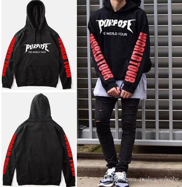 Purpose Tour Hoodies Men Justin Bieber Purpose Tour Hoodie Kanye Streetwear Sweatshirts Men Swag Tyga