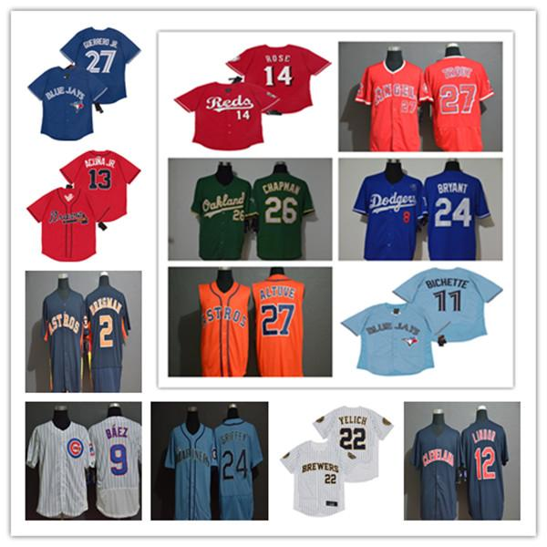 top popular 2020 Cody Bellinger Jersey Bo Bichette Alex Bregman Francisco Lindor Nolan Arenado Acuna Jr Judge Kershaw Yelich Rose Guerrero Trout Chapman 2020