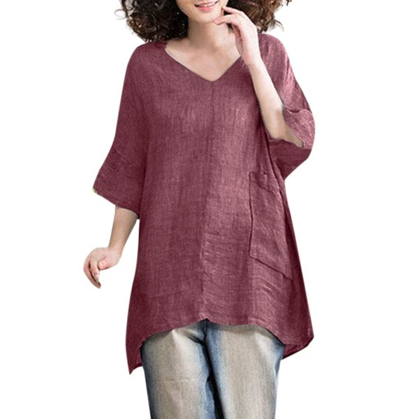 Yaz 2019 T Gömlek Kadın Streetwear Kore Tarzı V Boyun Yarım Kollu Tişört Kadın Vetement Femme 2019